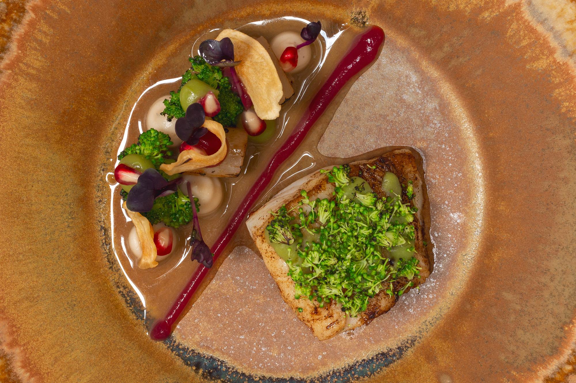 Schellfisch | Schwarzwurzeln | Granatapfel | Broccoli | Miso
