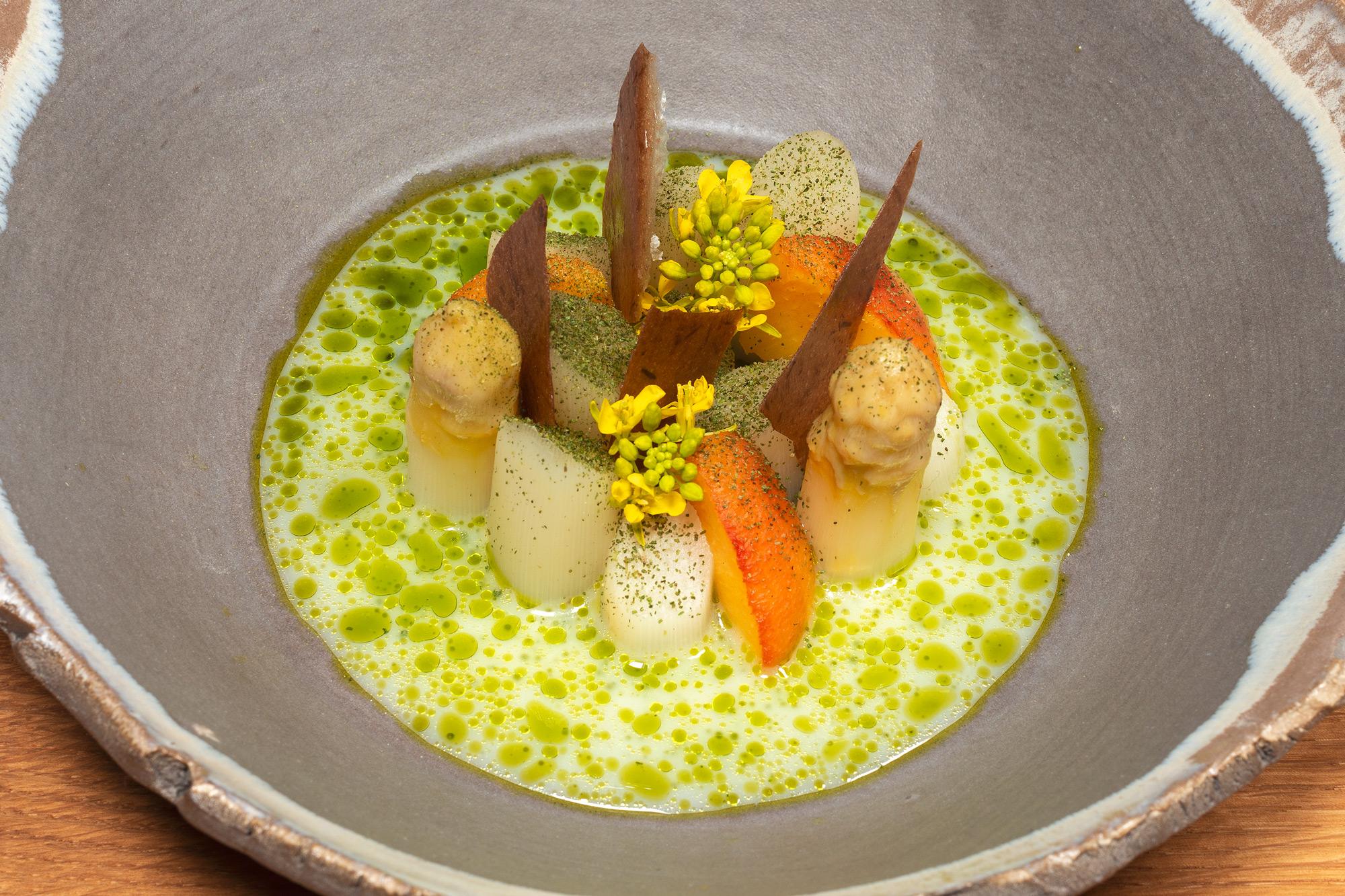 Spargel | Pfirsich | Olive | Estragon